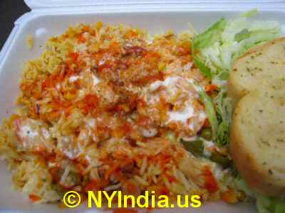 Biryani Cart Nyc W 46th St Lovely Biryani Lousy Kati Roll