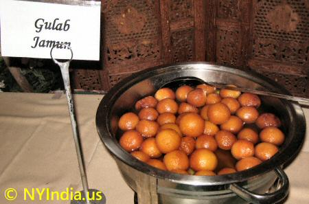 Gulab Jamun at Indian Buffet
