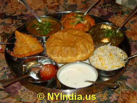 Vegetarian Thali image © NYIndia.us