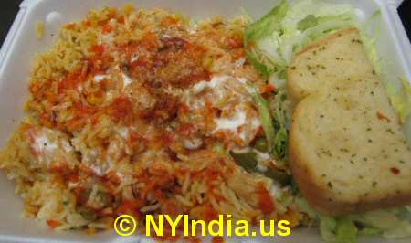 Vegetable Biryani image © NYIndia.us