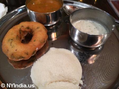 Adyar Ananda Bhavan NYC Idly Vada © nyindia.us