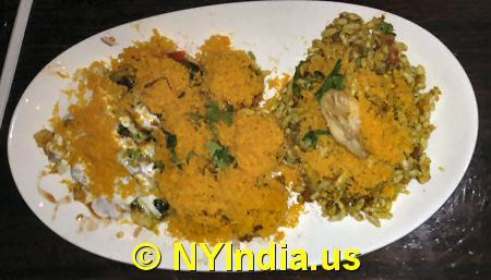 Kailash Parbat NYC Chaat Platter © nyindia.us