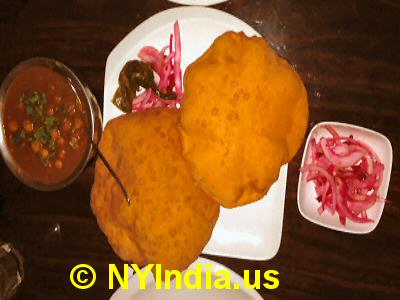Kailash Parbat NYC Chole Bhatura Channa © nyindia.us