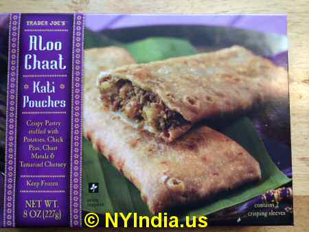 Trader Joe's NYC Aloo Chaat Kati Pouches Box image © NYIndia.us