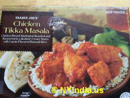 Trader Joe's NYC Chicken Tikka Masala Box image © NYIndia.us