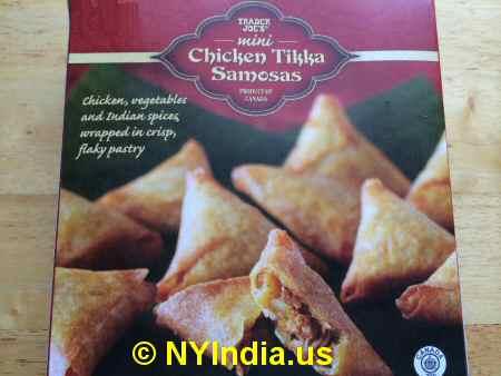 Trader Joe's NYC Chicken Tikka Samosa image © NYIndia.us