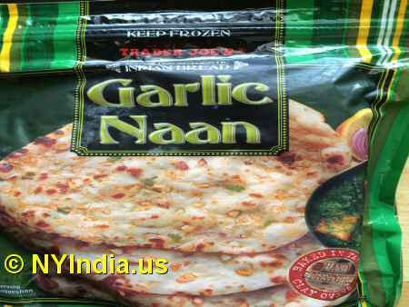 Trader Joe's NYC Garlic Naan Packet image © NYIndia.us