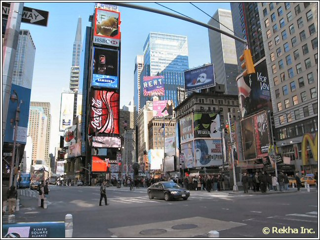 times square picture © NYIndia.us & Rekha Inc