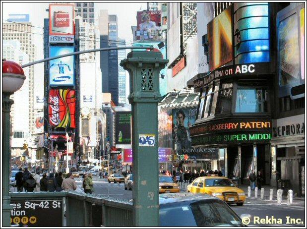 times square picture © NYIndia.us & Rekha Inc